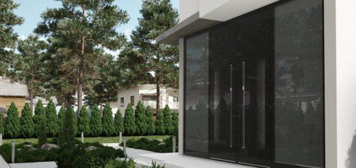 Alu Haustüren mit Seitenteil