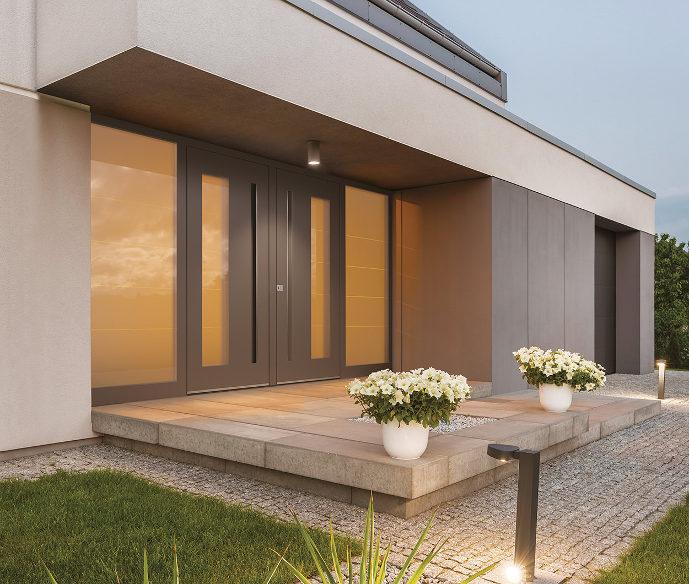 Alu Haustür mit Seitenteil