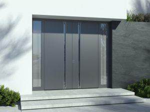 Haustüren Grau