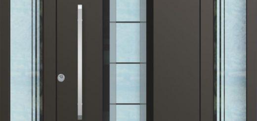 Aluminium Haustür Glas