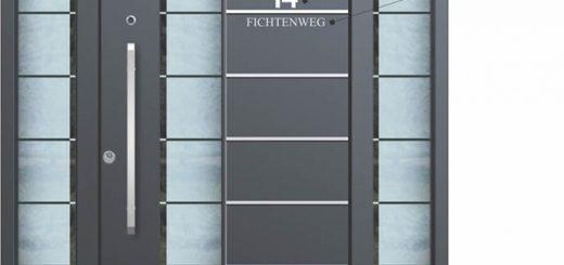 Haustüre aus Aluminium