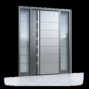 alu haust r mit seitenteil rechts aluminium haust ren mit 2 seitenteilen. Black Bedroom Furniture Sets. Home Design Ideas