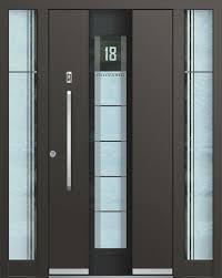 Alu Haustür mit Seitenteil und Glas
