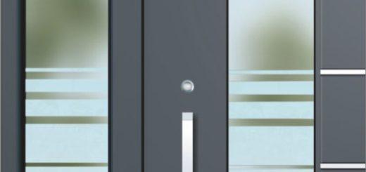 Eingangstüren Glas Alu