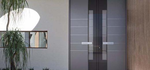 Haustüren Alu mit Seitenteil