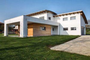 modernes Holzhaus Flachdach