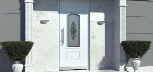 Aluminium Haustüren Weiß