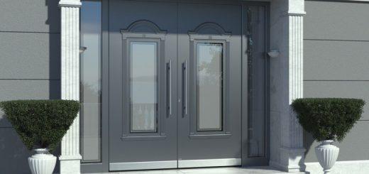 Aluminium Haustüren mit Glas